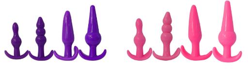Forskellige farver - Begynder anal sæt med flere forskellige former og størrelser