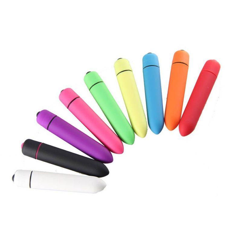 Bullet vibrator flere farver samlet